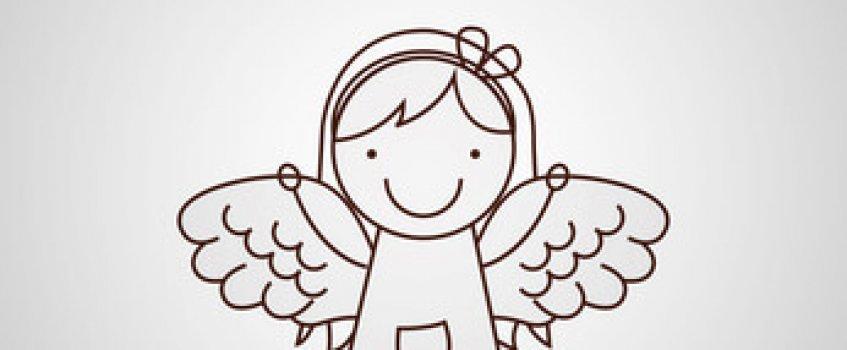 Gezeichneter Engel