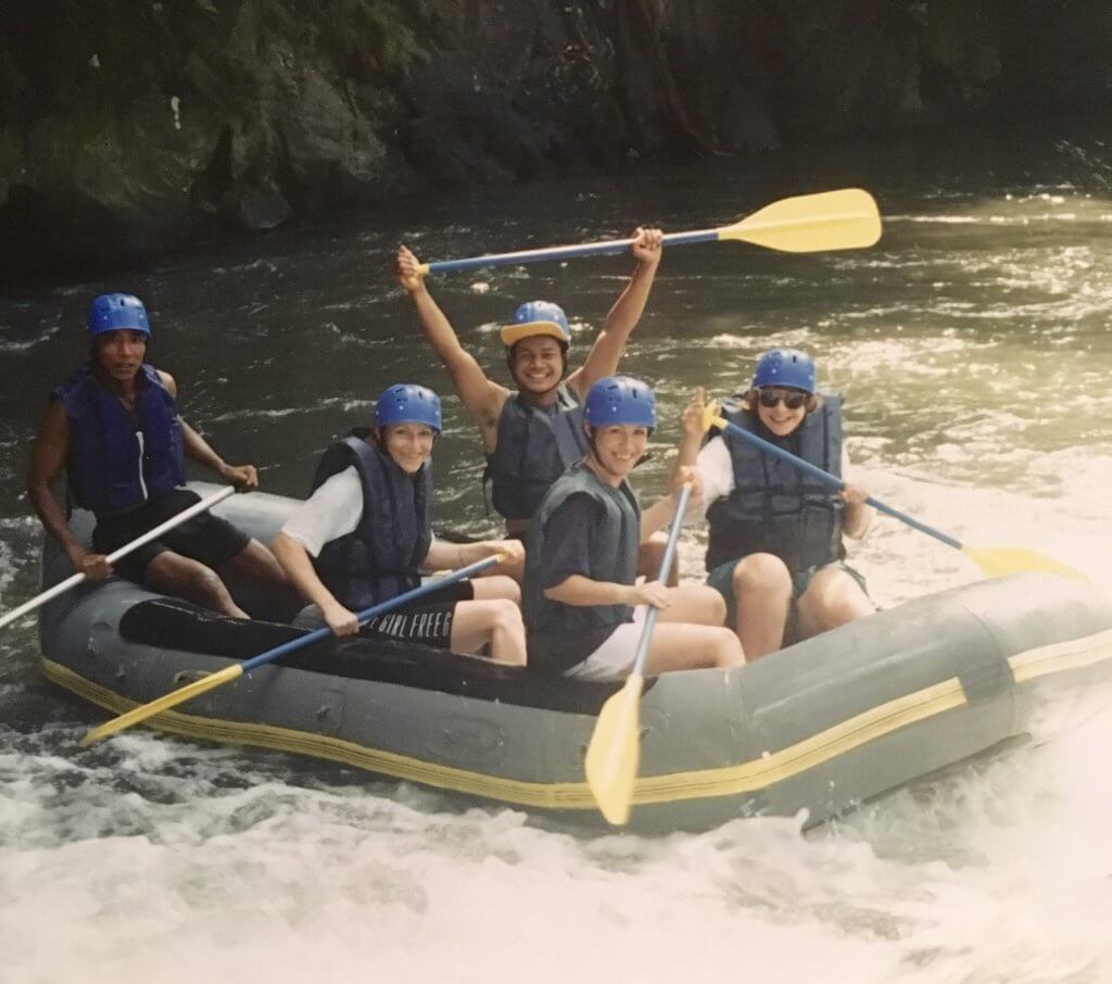 Boot mit Frauen