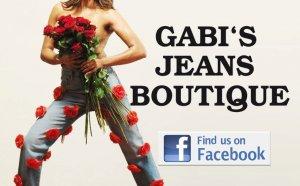 Jeans mit Rosen