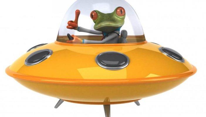 Comic Frosch