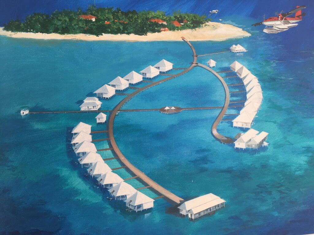 Insel im blauen Meer