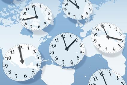 Uhrzeit auf der Welt