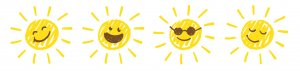 Sonne gezeichnet