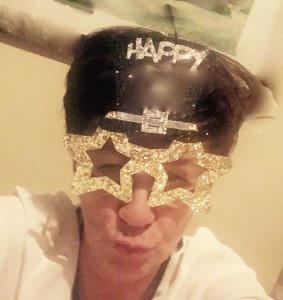Frau mit Happy New Year