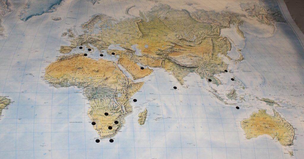 Eine Weltkarte