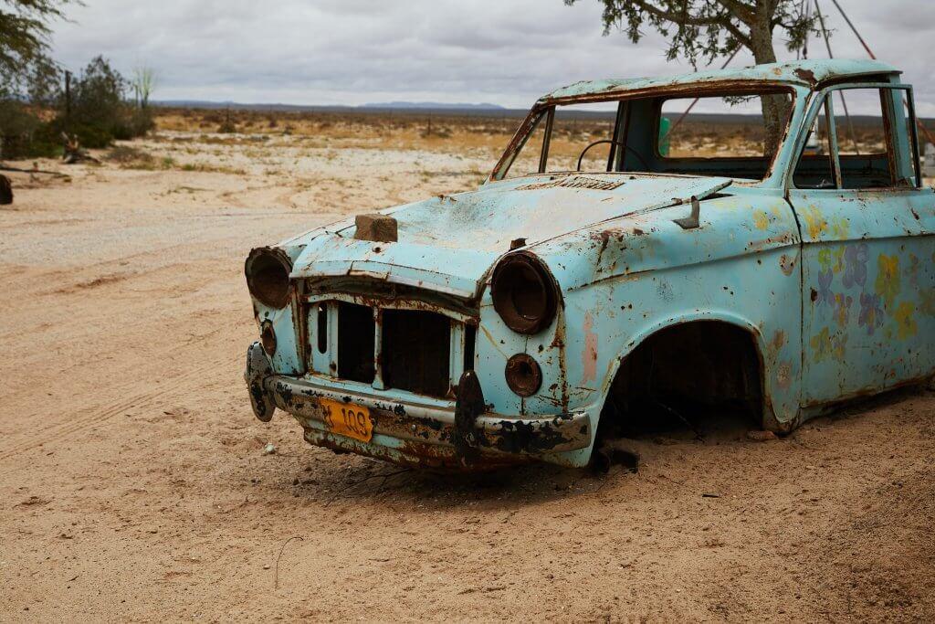Rostige Autoteile